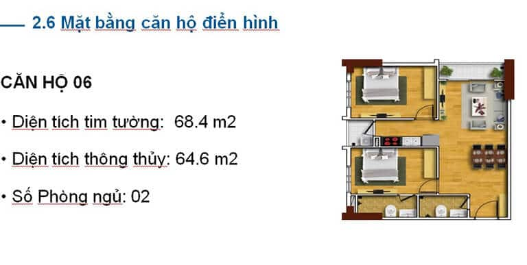 THIẾT KẾ CĂN HỘ A06 TECCO SKYVILLE TOWER