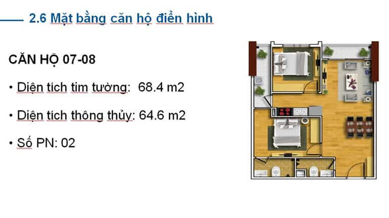 THIẾT KẾ CĂN HỘ A07 TECCO SKYVILLE TOWER
